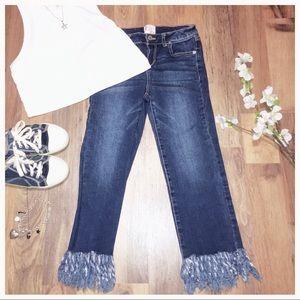 NWOT GB Girls Frayed Hem Jeans
